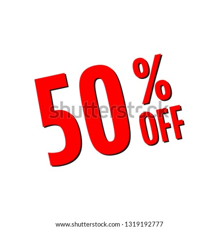 50% of the discount, banner discount of 50 percent