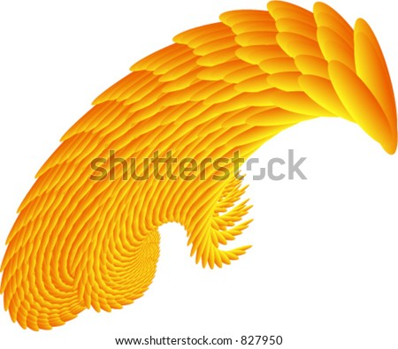 4 of 4 vector designs that resemble fiery wing