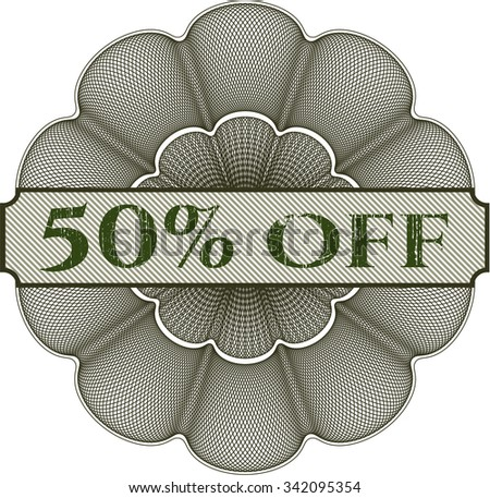 50% Off abstract linear rosette
