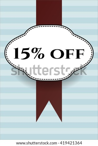 15% off banner or poster
