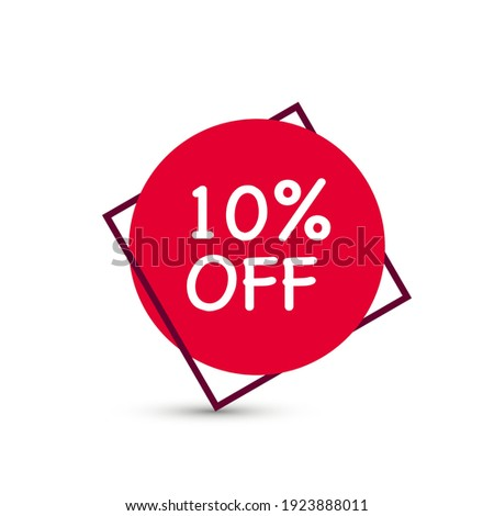 10% OFF discount. Discount offer price Illustration, Vector discount symbol.