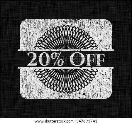 20% Off on blackboard