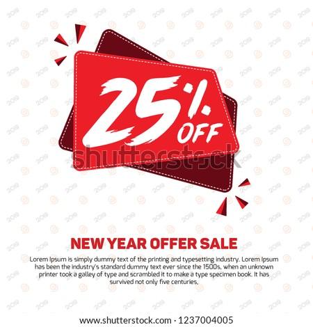 25% off 25% Percent off 25% Discount Sale Off big offer 25% Offer Sale Special Offer Design Vector Tag Banner Mega  Black Friday Summer Advertising Promotional Poster Offers Mobile Fashion Electronic