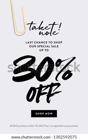 30% Off Promotion Sale Web Banner. Stock photo ©