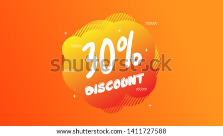 30% OFF Sale Discount Banner. Discount banner. Vector illustration with liquid background.