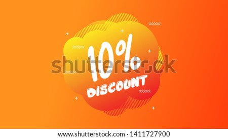 10% OFF Sale Discount Banner. Discount banner. Vector illustration with liquid background.