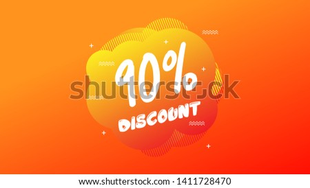 90% OFF Sale Discount Banner. Discount banner. Vector illustration with liquid background.