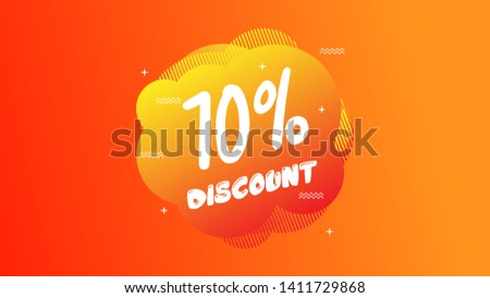 70% OFF Sale Discount Banner. Discount banner. Vector illustration with liquid background.