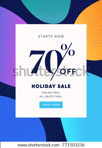 70% OFF Sale. Discount Special Offer Promo Ad. Discount Promotion. Sale Discount Offer. 70% Discount Special Offer Banner Design Template.