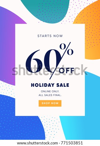60% OFF Sale. Discount Special Offer Promo Ad. Discount Promotion. Sale Discount Offer.
