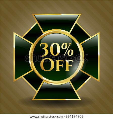 30% Off shiny badge