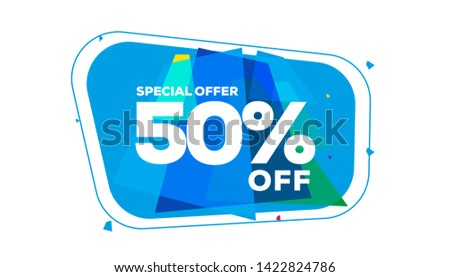 50% off, special offer, special color combination, modern style. -vector