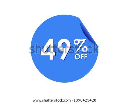 49  off sticker  49 percent