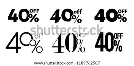 40% off typography sale gift ストックフォト ©