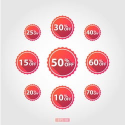% Off Vector red color