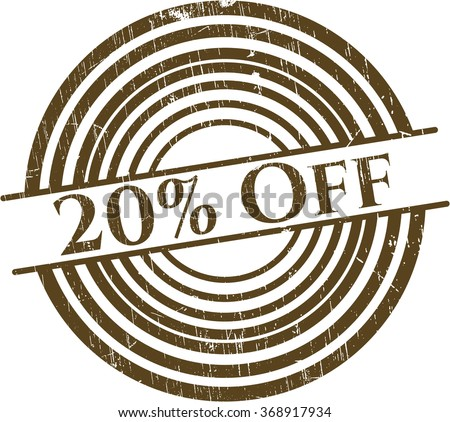 20% Off with rubber seal texture