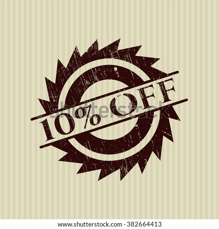 10% Off with rubber seal texture