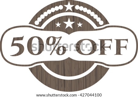 50% Off wood emblem. Retro