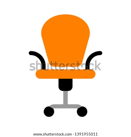 office furniture. flat Vector icon - illustration of office chair icon isolated on white - Vector