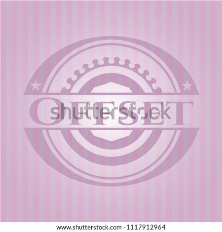 offset pink emblem. vintage.