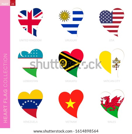 ollection of flags in the