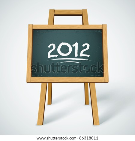 2012 on class chalkboard vector background - stock vector