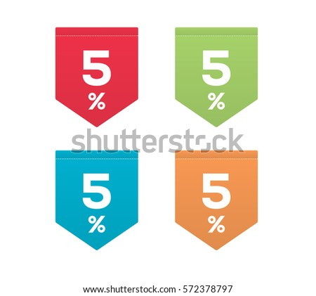 5  on colorful red green blue