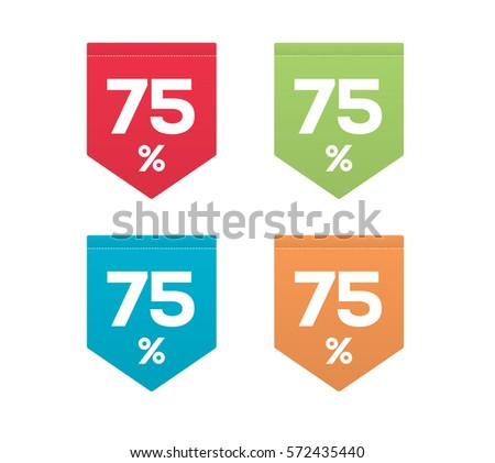 75  on colorful red green blue
