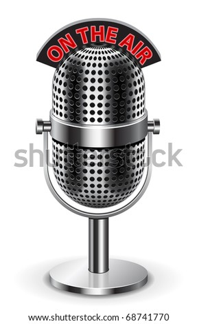 """On the air"" Microphone. The ""air"" sign its on separate layer, so you can use just the microphone if you like. Enjoy ))"