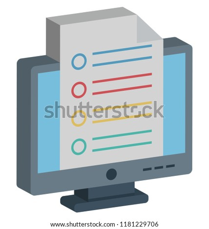Online Documents, Docs Isolated and Vector Isometric Style Icon