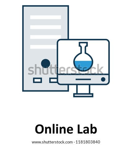 Online Lab Isolated and Vector Icon for Technology