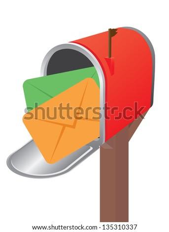 Open mailbox. Vector