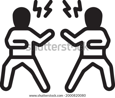 Opponent, rival, competitor, paragon, challenger, enemy, boxing icon vector Zdjęcia stock ©
