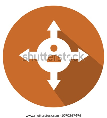 opportunity two colors glyph