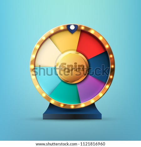 7 options spin wheel vector