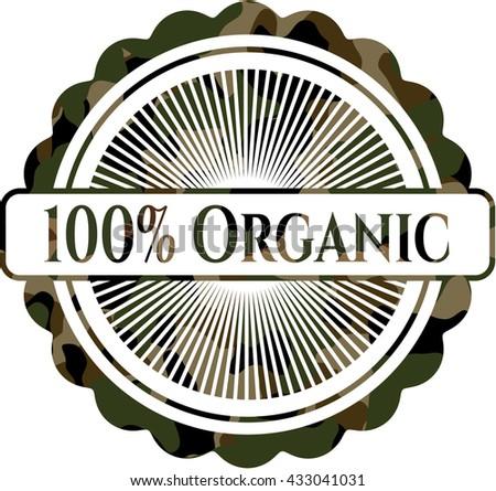 100% Organic camouflaged emblem