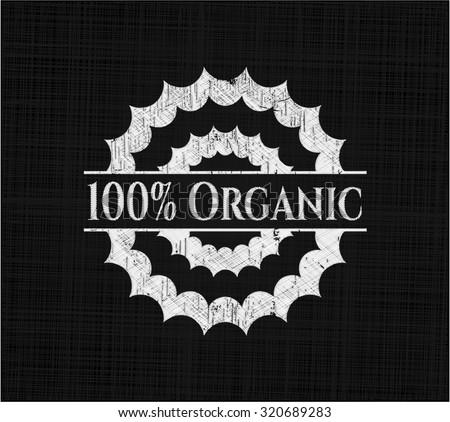 100% Organic chalk emblem