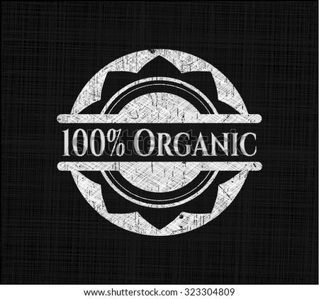 100% Organic chalkboard emblem