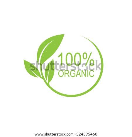 100% organic vector logo design.