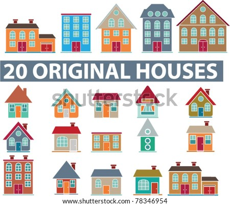 20 original houses  icons