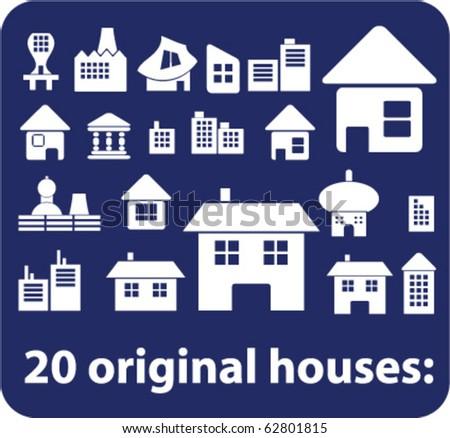 20 original houses. vector