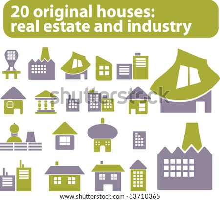 20 original houses. vector. eco edition.