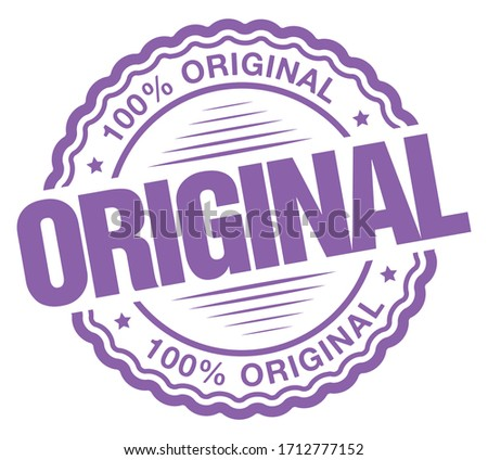 100% Original. Vector Purple Icon. Stock photo ©