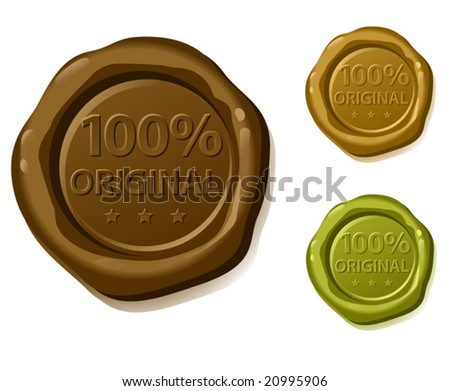 100  original vector sealing wax