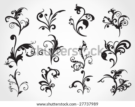 stock vector ornament pattern tattoo having artistic style