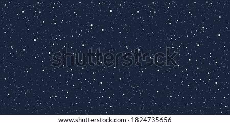 Сosmic, cosmos, night sky, galaxy with tiny dots, stars pattern, starry text background. Elongated rectangle shape. Hand drawn falling snow, dot snowflakes, specks, splash, spray winter texture.