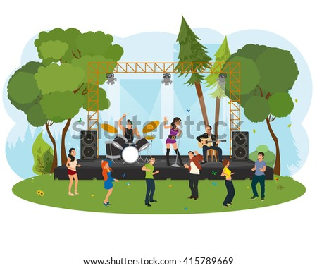 outdoor music festival people