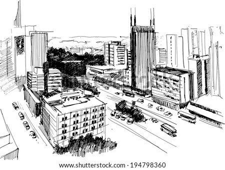 outline of skyline of nairobi