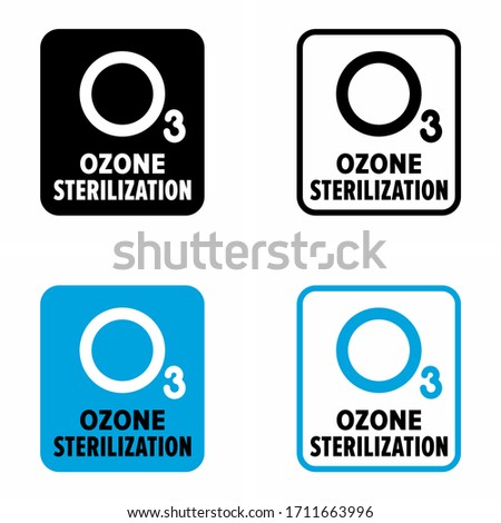'Ozone sterilization' germ, virus and microbe destroying system information sign Photo stock ©