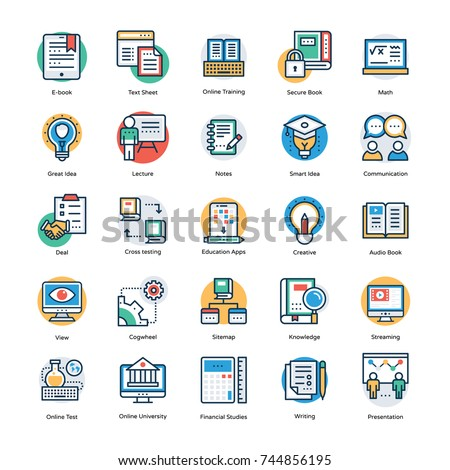 Pack of Education and Knowledge Icons